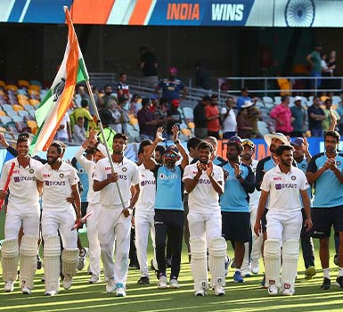 India pulls off a historical cricket victory over Australia in Brisbane !!!